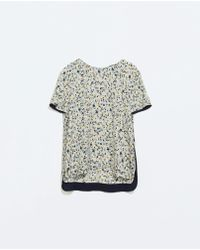 Zara Back Tie Shirt - Lyst