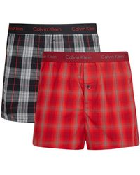 CALVIN KLEIN 205W39NYC - Checked Boxer Shorts - Set Of Two - Lyst