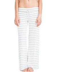 Eberjey Lounge Stripe Wide Leg Pant - Lyst
