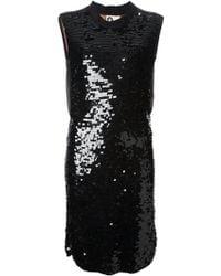 Lanvin Black Sequinned Dress - Lyst