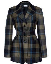 Sonia Rykiel Checked Wool Twill Jacket - Lyst