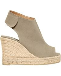 Castaner - 100mm Open Toe Canvas Wedges - Lyst
