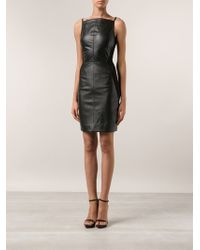 Gareth Pugh Black Fitted Dress - Lyst