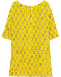 Issa Printed Silk Tunic - Lyst