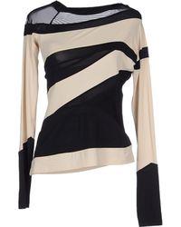 Donna Karan New York Black T-Shirt - Lyst