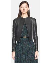 Jason Wu Leather Crop Jacket - Lyst