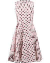 Oscar de la Renta | Floral Dot Devore Dress | Lyst