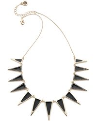 House Of Harlow 1960 Enameled Echelon Collar Necklace - Black/Gold - Lyst