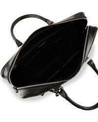 Prada | Camo Saffiano Zip-around Briefcase | Lyst