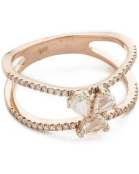Luna Skye - Diamond Cluster Double Band Ring - Lyst