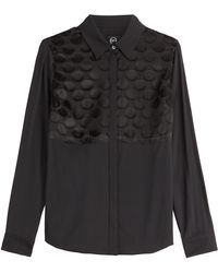 McQ by Alexander McQueen Blouse With Sheer Inserts - Lyst