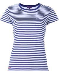 Ralph Lauren Purple Label - Striped T-shirt - Lyst