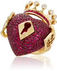 Lydia Courteille - Surrealist Collection Red Sapphire Ring - Lyst