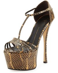 Giuseppe Zanotti Leather High-Heel Platform Sandal - Lyst