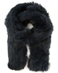 Meteo by Yves Salomon - Rabbit Fur Scarf - Lyst