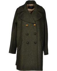 Max & Co Green Coat - Lyst