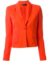 Versace Orange Fitted Blazer - Lyst