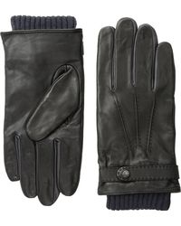 Ted Baker Core Leather Stab Stitch Glove - Lyst