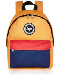 River Island Yellow Hype Block Colour Backpack - Lyst
