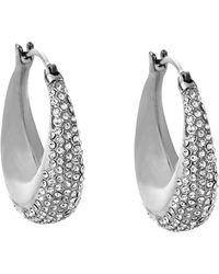 Michael Kors Pavé Hoop Earrings - Lyst