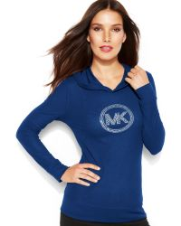 Michael Kors Michael Waffle-Knit Hooded Logo Tee - Lyst