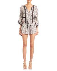 Twelfth Street Cynthia Vincent | Lace-inset Short Jumpsuit | Lyst