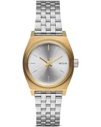 Nixon 'The Small Time Teller' Watch silver - Lyst