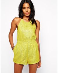 Shakuhachi Playsuit In Crinkle Fabric - Lyst