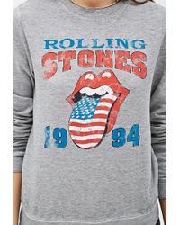 Forever 21 Rolling Stones Pullover - Lyst