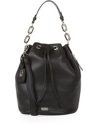 Karl Lagerfeld Grainy Leather Bucket Bag - Lyst