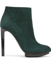 Alexander McQueen Evergreen Suede Ankle Boots - Lyst