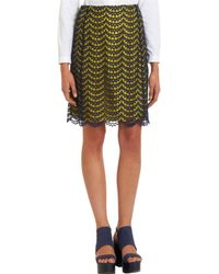 Carven Lace Overlay Straight Skirt - Lyst