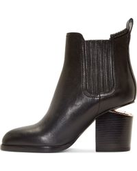 Alexander Wang Black Notched Heel Gabriella Ankle Boots - Lyst
