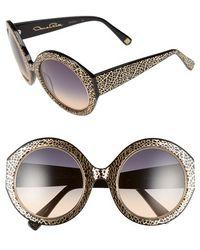Oscar de la Renta - 54mm Round Sunglasses - Lyst