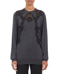 Dolce & Gabbana Lace Appliqué Pullover Sweater - Lyst