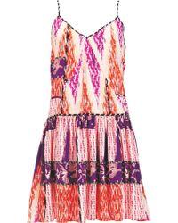 Matthew Williamson Zig Zag Patchwork Silk Summer Dress - Lyst