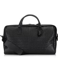 Bottega Veneta Intrecciato Leather Weekend Bag - Lyst