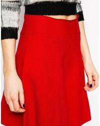 Asos Skater Skirt In Structured Knit - Lyst