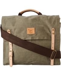 Will Leather Goods Wax Canvas Messenger - Lyst