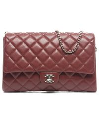 Chanel Preowned Caviar Medium Flap Bag - Lyst