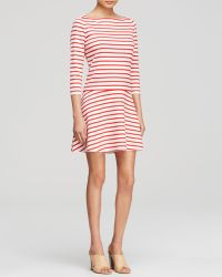 Tory Burch Striped Linen Knit Dress - Lyst