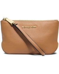 Michael Kors Rhea Large Leather Pouch - Lyst
