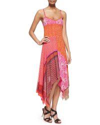 Jean Paul Gaultier Patchwork Handkerchief Slip Dress - Lyst