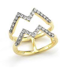 Elizabeth And James Maru 23k Gold Plated Zigzag Ring - Lyst