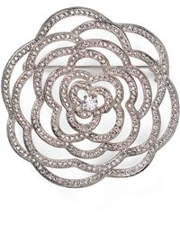 Nadri - Open Flower Pin - Lyst