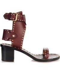 Isabel Marant Jaeryn Studded Leather Sandals - Lyst