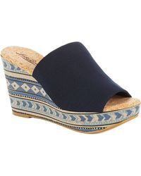 Lucky Brand Marilyn Cork Wedge Sandals - Lyst