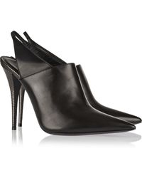 Narciso Rodriguez Cindy Watersnake and Leather Slingback Mules - Lyst