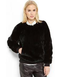 Theyskens' Theory Black Binga Real Fur Sweatshirt - Lyst