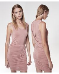 Krisa   Twisted Drape Shirred Mini Dress   Lyst